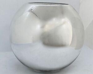"CHRISTOFLE small 7"" UNI metallized glass VASE"