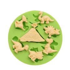 Dinosaurs Silicone Mould Icing Cake Decoating Paste Baking Sugarcraft Round