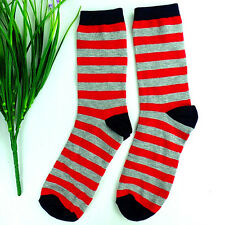1Pairs Womens's Pure Cotton Stripes Leisure Comfortable Socks 20*19cm DWZ112