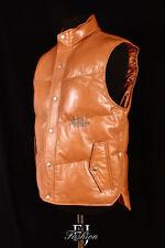 Abrigos y chaquetas de hombre talla L marrón de piel