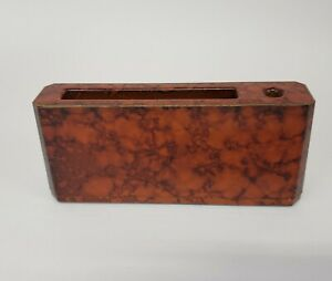 Otagiri Lacquerware Desk Holder for Paper and Pen Tortoise Shell