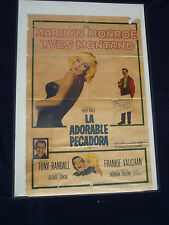 MARILYN MONROE LET'S MAKE LOVE 1960 CUBA  LA ADORABLE PECADORA YVES MONTAND