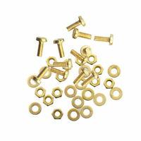 12 Schrauben M3 x 8 mm Messing DIN85 + Muttern + Unterlegscheiben