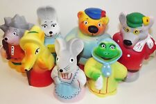 Forest animals are characters of Russians fairy tales. Rubber bath toy set.