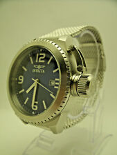 Invicta Custom Corduba 0988 Urban Stainless Large Blue 46mm Dial Canteen Crown