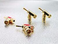 4x Speaker Cable Wire  Connector Banana Plug AMP HIFI terminal Plug  Gold