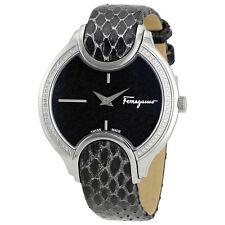 Ferragamo Signature Black Diamond Dust Dial Ladies Watch FIZ070015