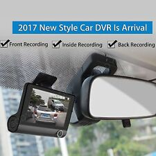 4'' 1080P Dual Lens Car DVR Dash Cam Camera Video Recorder Rearview G-sensor WR