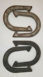 Vintage Set of 4 RODEO Pitching Horseshoes  # 1 &  # 2