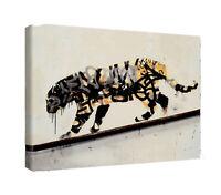 banksy tiger canvas wall art Wood Framed Ready to Hang XXL banksy