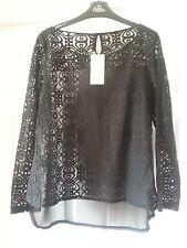 NEXT Black Lace Blouse - Size 14 Petite