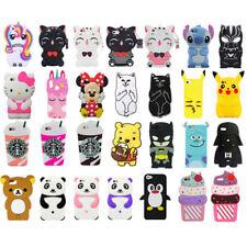 Para Ipod Touch 5/6 Funda para Iphone 3D suave de silicona piel Lindos Dibujos animados Animales