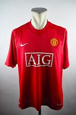 Manchester United Trikot 2007-2008 Gr. XL Nike rot CL Winner Jersey AIG