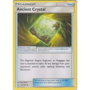 ANCIENT CRYSTAL REV HOLO  118/156 SM ULTRA PRISM POKEMON TRAINER CARD NEW MINT