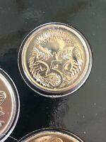 Australian 1990 UNC 5 Cent from MINT SET. Mint Coin. Free Post