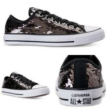 Converse Sneakers All Star Ox Lo Top Chuck Taylor Men 11 Women 13 Sequins Prom