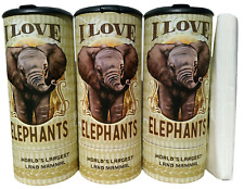 I Love Elephant(85018) Refillable Tissue Tube with 1 Refill package