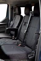 Ford Transit Custom MY18 onward INKA Tailored Waterproof Front Seat Covers Black