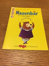 Nosy Bear  Replacement Spare Rules Instructions Haba 2007 Y70