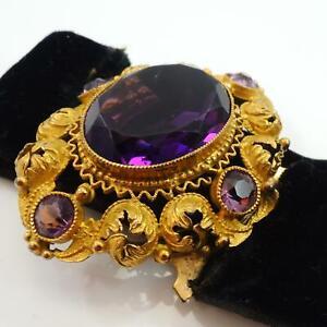 Victorian Gold Gilt Mourning Bracelet Clasp