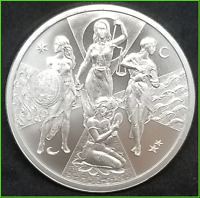 Esoteric Virtues Silver Shield 2020 BU .999 Silver Cardinal Virtues #5