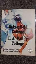 Bakersfield College vs LA Valley College Football 1968 Vintage Program J40418