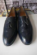 daa921b2011  645 Salvatore Ferragamo Navy Blue Leather Tassel Penny Loafer MEN S US ...