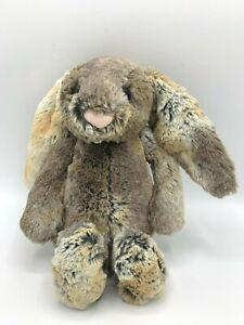 "Jellycat Bashful Bunny Rabbit Plush Grey Gray 12"" Soft Stuffed Animal Toy"