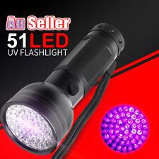 51 LED UV Flashlight Torch Light Lamp Ultraviolet Blacklight Aluminum 395 NM