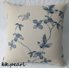 John Lewis Cushion Cover  Modern & Contemporary Style Navy Floral Fabric 18""