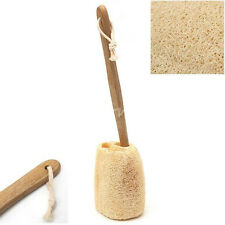 Wooden Handled Sponge Loofah Back Scrubber Brush Bath Long Reach Clean Shower