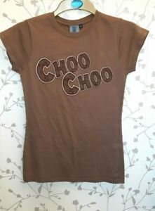RETRO VINTAGE RUNAWAY MINE TRAIN ALTON TOWERS UK S BROWN CHOO CHOO QUOTE T SHIRT