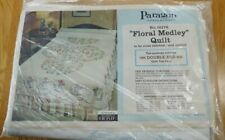 Vintage Paragon Needlecraft Floral Medley Quilt Top Cross Stitch Embroidery Kit
