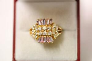 916/22ct sparkling indian gold ring *Boxed*