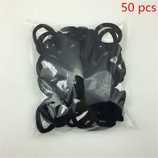 50PCS Black Women Girl Hair Band Ties Elastic Rope Ring Hairband Ponytail Holder