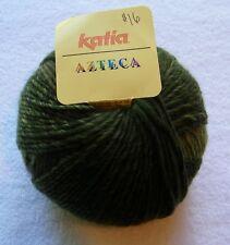 """1 Skein Katia """"Azteca"""" Aran-Weight Wool Acrylic Plied Shades of Green Yarn"""