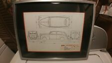 RARE Altrust Precision Tooling Mattel Toy Die Cast 1941 Ford Car Blueprint Frame