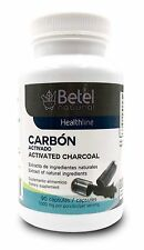 Carbon Activado Capsulas -Activated Charcoal Betel Natural 90 Capsules FREE SHIP
