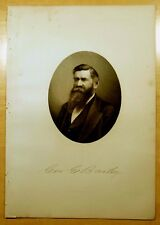 Antique Print 1883 GEORGE EDSON BAILEY Mansfield, MA STEEL ENGRAVING