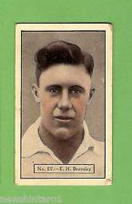 1934 - 1935 ALLEN'S CRICKET CARDS #22  E. H. BROMLEY