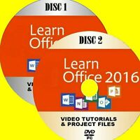 MICROSOFT OFFICE 2016 SIMPLE VIDEO TRAINING 30+HRS ON PC DVD WORD EXCEL Etc NEW