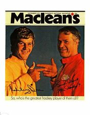 """Gordie Howe and Bobby Orr -Who's the best?"""" - very Rare!"""