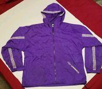 Vintage Umbro Logo Purple Windbreaker Jacket - Mens Large