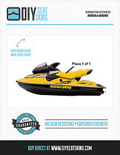 XP HX SPX GSX SEA DOO YELLOW Seat Skin Cover 97 98 00 02- FREE INSTALL MANUAL