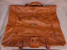 Land Vintage Leather Carry On Luggage Travel Saddle Garment Bag