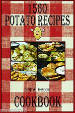 1560 Delicious Recipes For Potatoes E-Book Cookbook CD-ROM