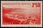 "MONACO N° 179 ""VUE DE LA PRINCIPAUTE 2 F 50 ROUGE ""  NEUF xx TTB"