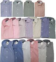 Polo Ralph Lauren Mens Regent Custom Fit Long Sleeve Solid Striped Dress Shirt