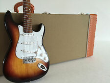 Officially Licensed Fender Stratocaster Sunburst with Tweed Case Miniature Set