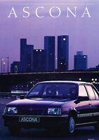 1988 Opel Ascona German Sales Brochure Prospekt